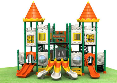 Castle style with small bending slide safety galvanized steel pipe outdoor playground for outdoor activities TQ-CB1119