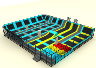 Standard Size Non Toxic Kids Trampoline Park For Kindergarten KP170118-A