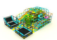 China Steel Pipe + LLDPE Kids Indoor Playground Equipment With Spider Net Towel KP170119 company