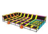 Little Kids Trampoline Park With Sponge Blocks Galvanized Steel Pipe Material KP160816