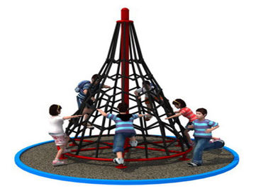 China Amusement Park Rope Climbing Structure Playground Equipment For Kids KP-PW035 factory