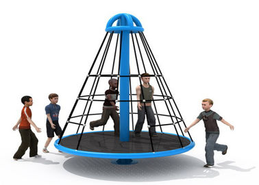 China Wear Resistant Pyramid Rope Climbing Frame / Elementary School Playground Equipment distributor