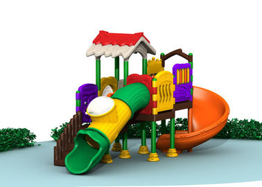 China Durable Kids Outdoor Play Gym Sets , Childrens Plastic Playground Equipment factory