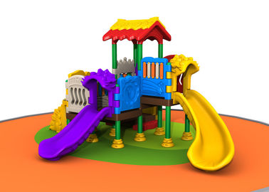 China Outside Kids Plastic Playground Equipment For Kindergarten Simple Construction distributor