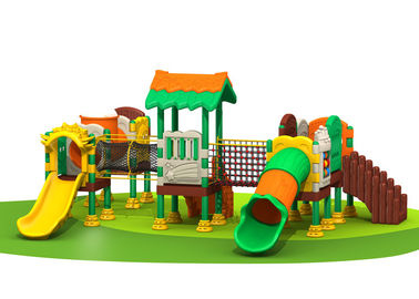 China Customized Plastic Backyard Playsets , Kids Plastic Play Gym Anti UV TQ-QS019 factory