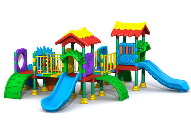 China 8CBM Plastic Slide Set / Kids Plastic Outdoor Play Equipment With Massed Patterns distributor