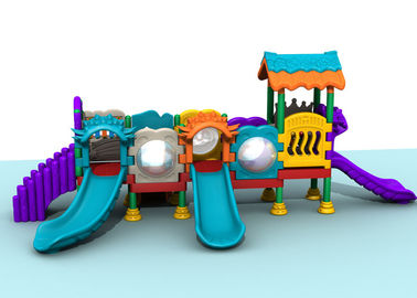China Middling Size Kids Plastic Playground Equipment For Grassland 7CBM Volume distributor