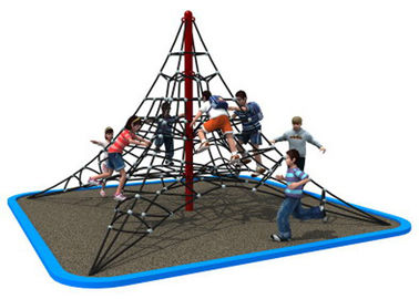 China Galvanized Steel Pipe Rope Climbing Structure For Kindergarten KP-PW034 distributor