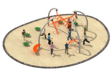 China 870*800*250cm Rope Play Equipment , Climbing Play Equipment For Younger Kids TQ-TN502 factory