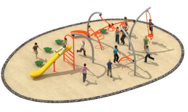 China 830*580*250cm Simple Design Rope Climbing Structure Playground Environmental Protection factory