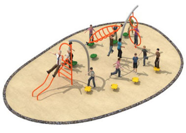 China 780*300*250cm Rope Playground Equipment , Outdoor Rope Play Structures For Kindergarten distributor