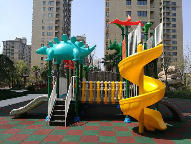Dinosaur Style Children'S Play Park Equipment With Brilliant Colors 24CBM